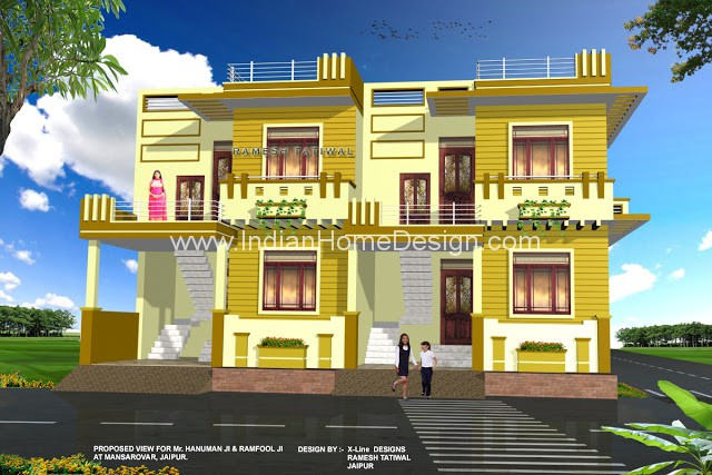 happy new year fresh 3d model plans from homeinner attractive rajasthan style home villa designs
