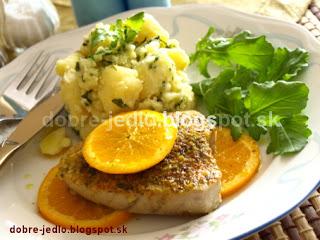 Pečený tuniak s pomarančom - recepty