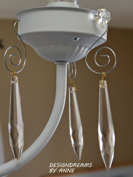 DesignDreams by Anne: 1970s Chandelier for the Guest Room