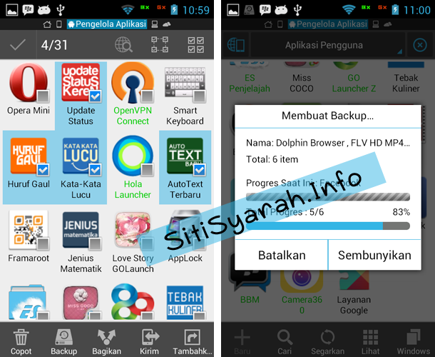 Backup Aplikasi Android ke SD Card