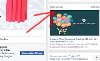 iklan di halaman facebook