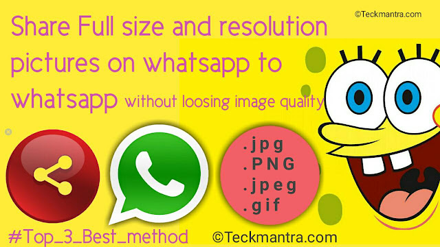 There simple way to send images on whatsapp without loosing photo quality by iphone and Android