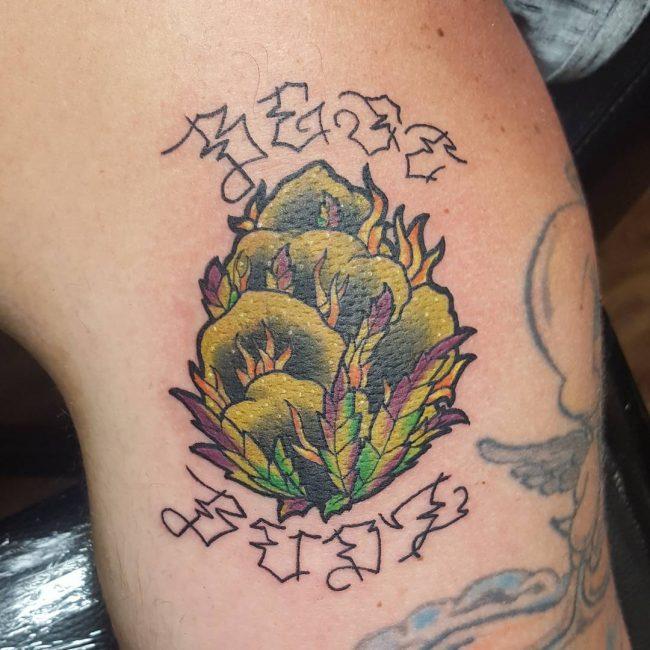 tatuajes de canabis