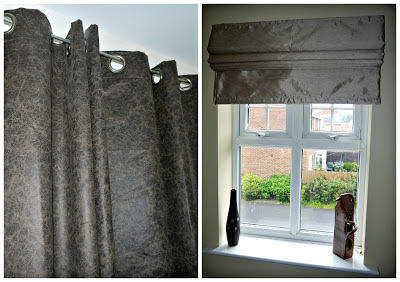 roman blinds, window dressing