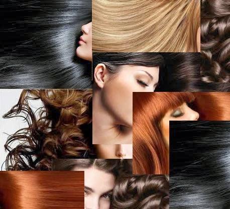cabelos loiro preto castanho e ruivo