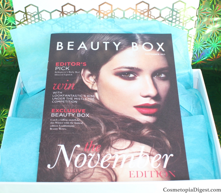 Here is the review and unboxing of the LookFantastic Christmas Beauty Box 2 for November 2015
