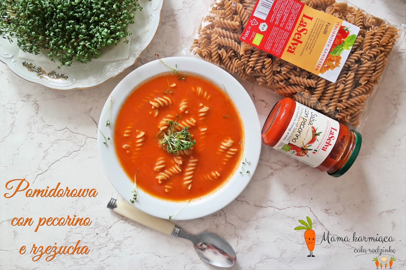 Pomidorowa con pecorino e rzeżucha