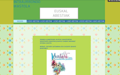 EUSKAL ABESTIAK-INTXAURRONDO IKASTOLA