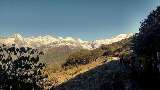 Approaching towards Dzongri Pass