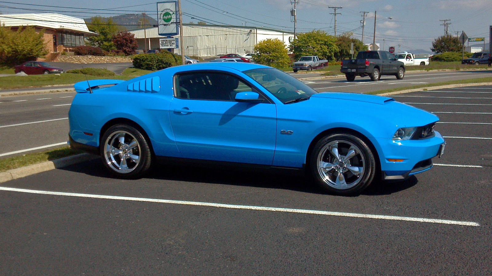 2011 grabber blue ford mustang gt 5 0 for sale american muscle cars. Black Bedroom Furniture Sets. Home Design Ideas