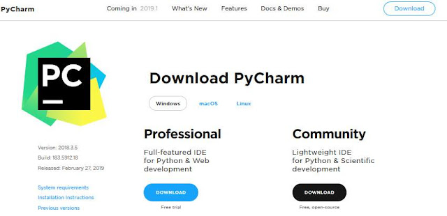 Software IDE PyCharm
