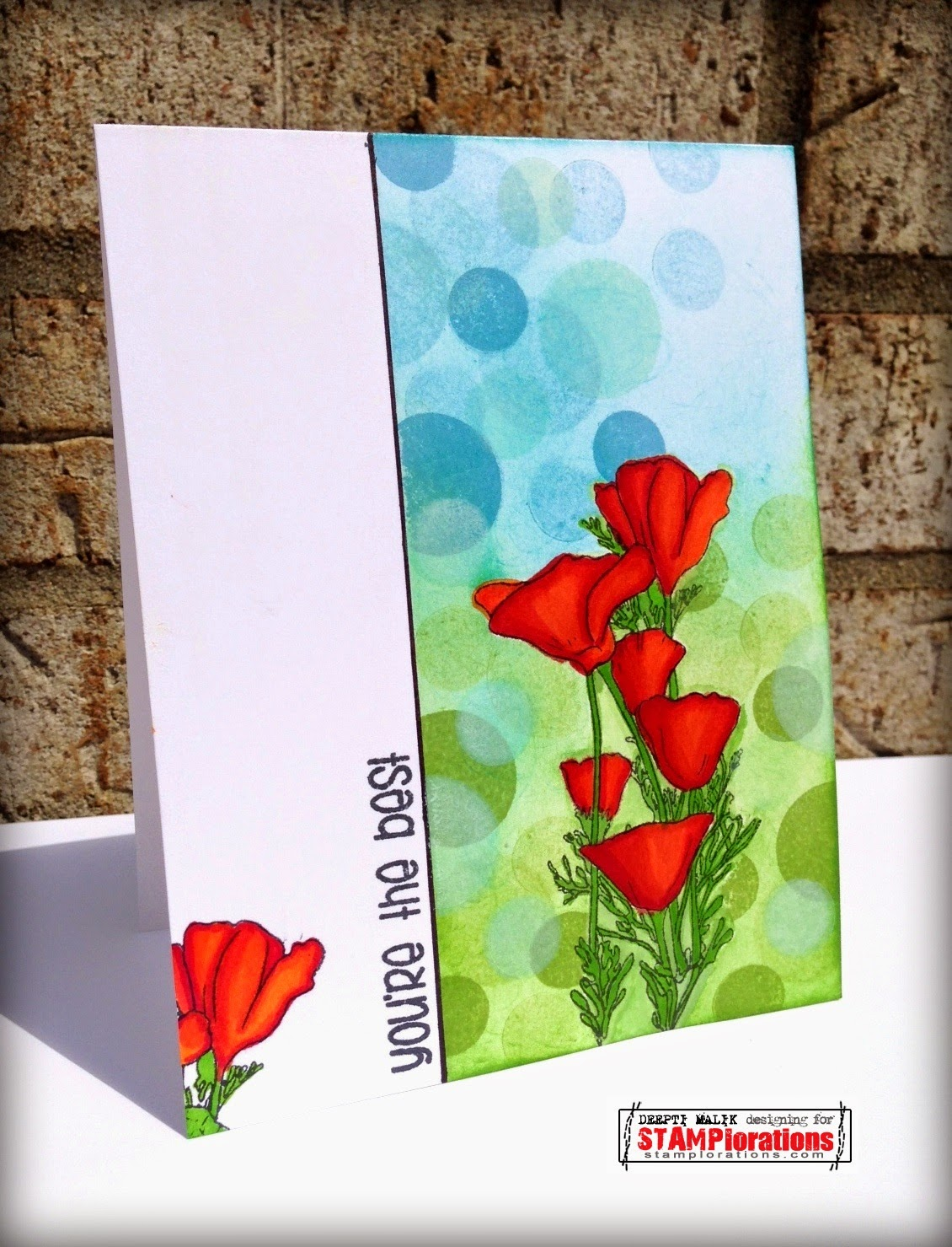 Stamplorations Blog Spotlight Project Deepti Creates A Card Using The Focal Zoom With Bokeh