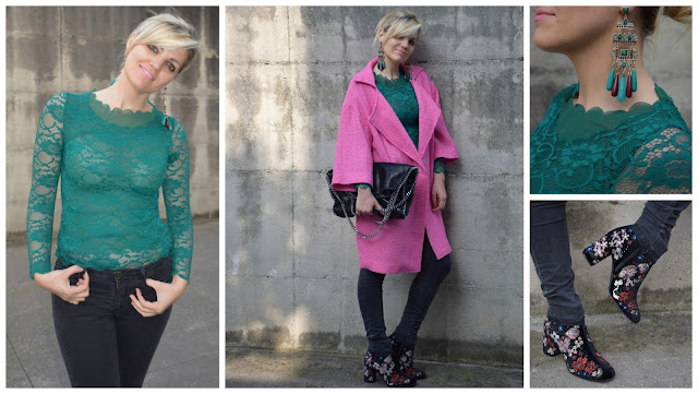 outfit cappotto rosa come abbinare un cappotto rosa top verde come abbinare un top verde outfit marzo 2017 outfit primaverili marzo 2017 outfit mariafelicia magno colorblock by felym fashion blog italiani fashion blogger italiane blogger italiane di moda