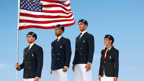 These Olympic uniforms are NOT made in the USA, but due to public outcry, RL has announced they will be starting in 2014