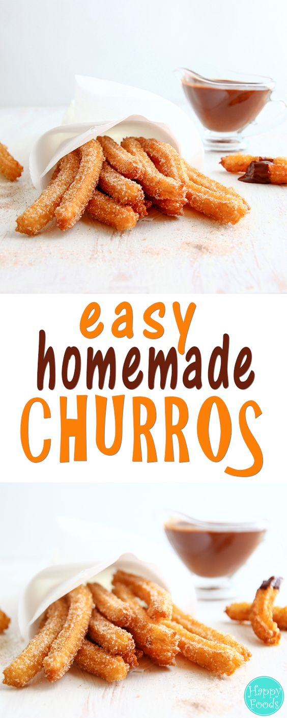 HOMEMADE CHURROS #homemade #churros #dessert #dessertrecipes #easydessertrecipes