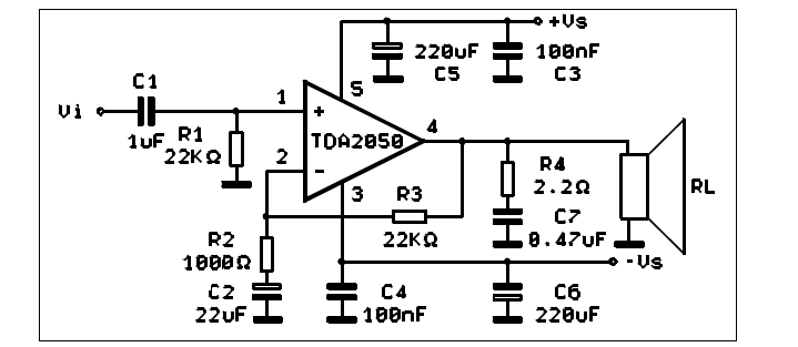 32w Power Amplifier Circuit Based Tda2050 | #1 Wiring