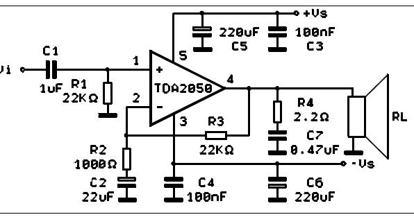 TDA 2050 Gainclone ChipAmp, a classic 50 Watts HIFI class
