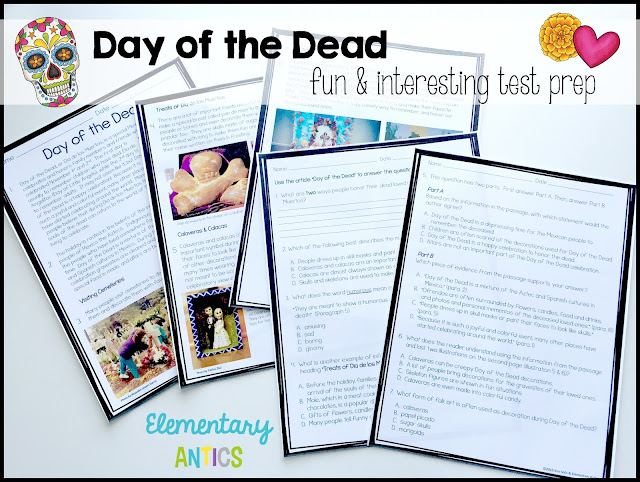 Who says test prep has to be boring!  This engaging article about Day of the Dead is one your students will love learning about!