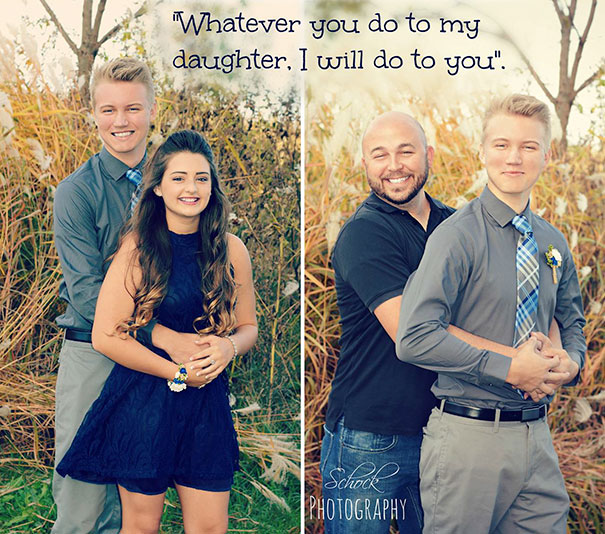 40 Photos Of The Most Hilarious Parents You Will Ever Meet - This Dad Who Threatened His Daughter's Boyfriend In Photoshoot