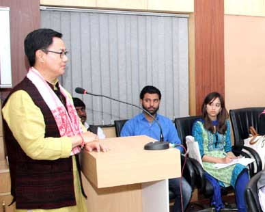 Kiren Rijiju, Union Minister of State for Home Affairs, Private sector, disaster management, Jamia Milia Islamia university
