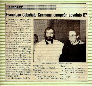 CAMPEONATO ABSOLUTO ALMERÍA 87