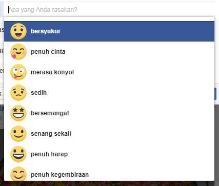 kumpulan daftar emoji perasaan di facebook