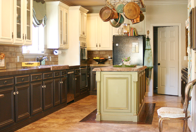 Painted Kitchen Cabinets Two Different Colors It's a Long...