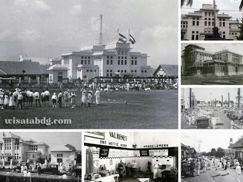 Jaarbeurs pasar malam Bandung tempo dulu