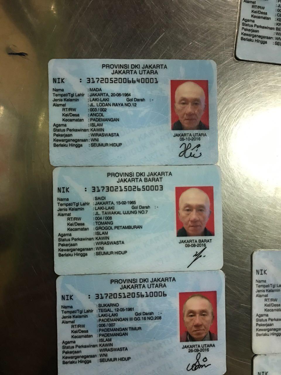 Bahkan, baru-baru ini telah ditemukan KTP palsu berasal dari pedagang china di Kota Rangkas Belitung. Yang mengherankan, walaupun mereka berdomisili di Lebak Rangkas Belitung, namun rata-rata alamat yang tertera di dalam KTP itu memiliki domisili DKI Jakarta dengan KTP seumur hidup.  Kemungkinan besar bahwa seorang WNA memiliki lebih dari satu eKTP palsu, dengan identitas yang berbeda.