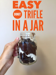 Easy Donut Trifle in a Jar