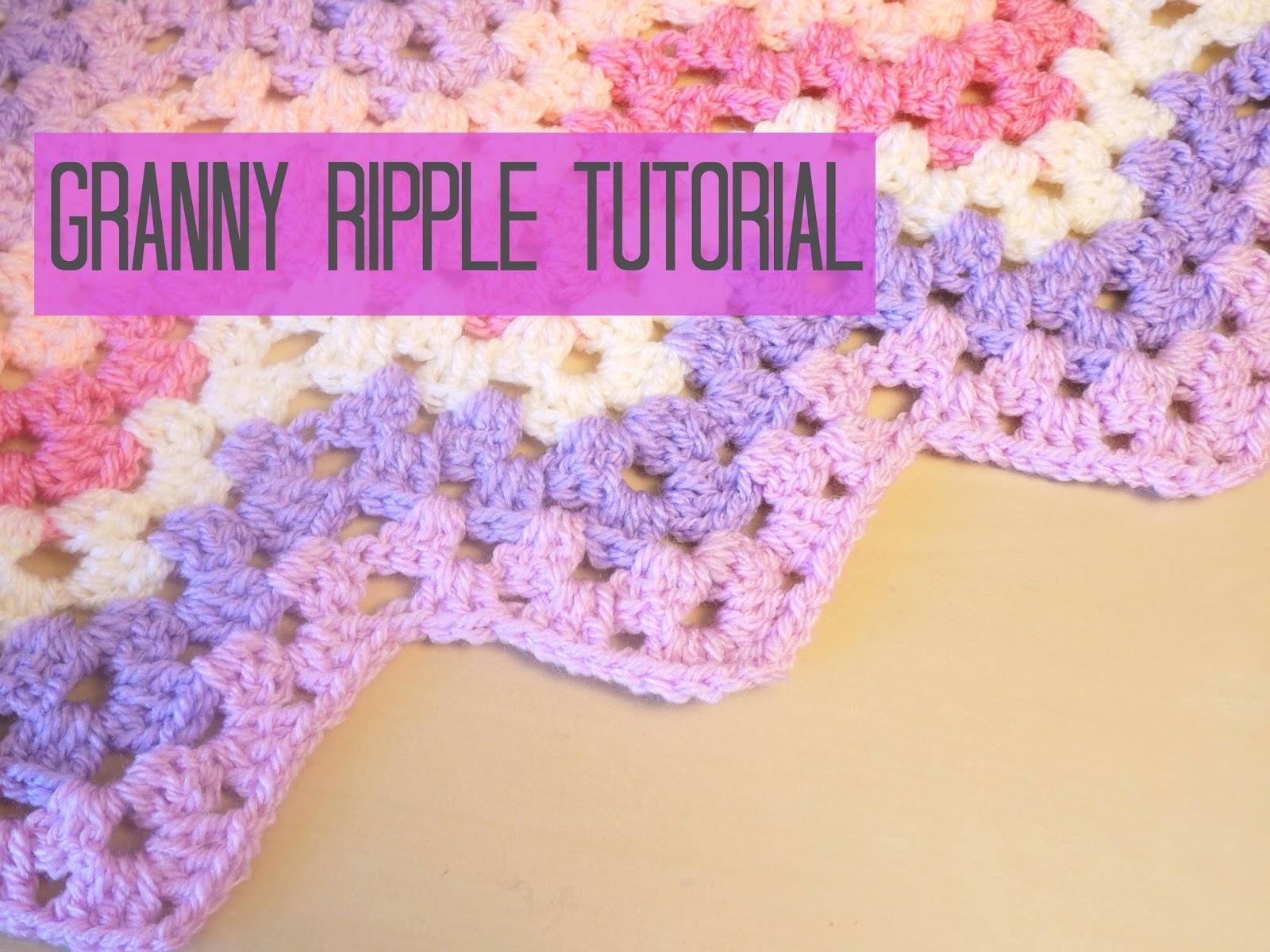 Granny Ripple Stitch Tutorial: September 2014