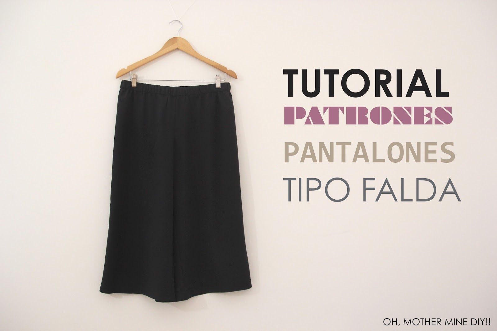 DIY Pantalon Culotte (Tutorial y patrones gratis) - Handbox Craft ...