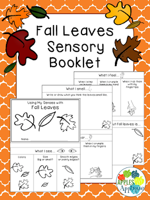 Fall Leaves Sensory Booklet | Apples to Applique