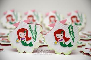 under the sea invitations, little mermaid birthday, princess invitations