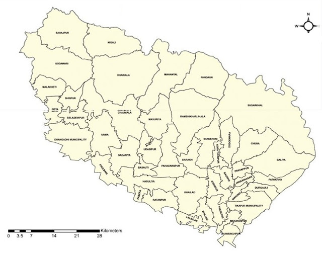 Kailali district map
