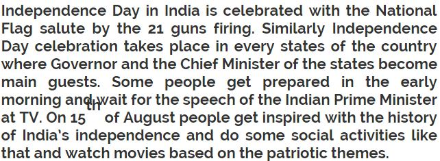 15 August Essay in English | Short 15 August Independence day ...