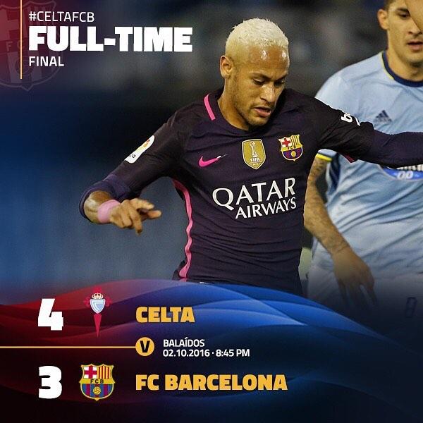 Celta Vigo Vs Barcelona Direct: Celta Vigo Vs FC Barcelona 2016-2017