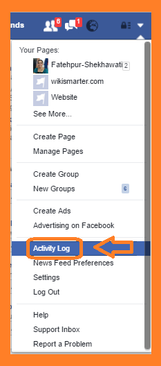 Facebook multi option menu