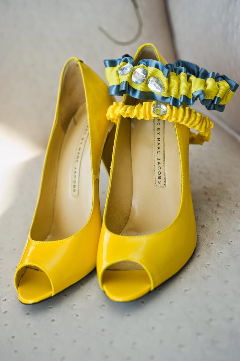 Open Toe Yellow Bridal Shoes Pumps