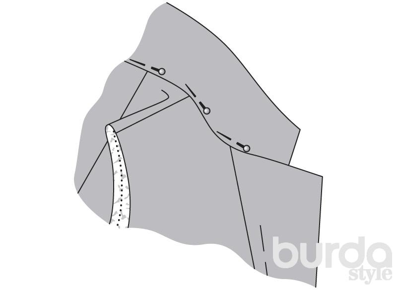 Обработка пиджачного воротника - МК от А. Корфиати 72