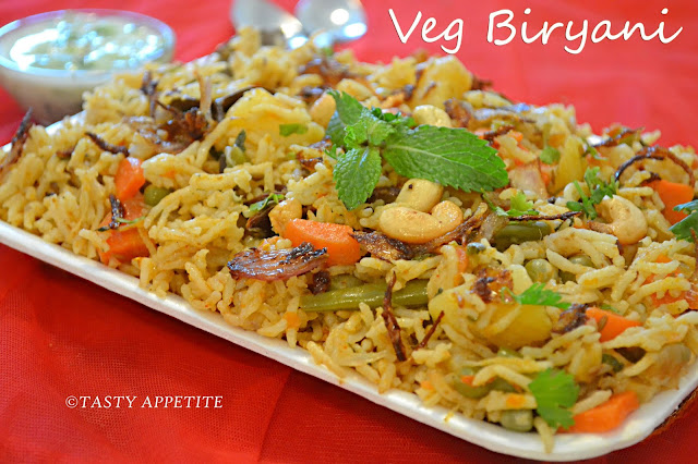 VEGETABLE BIRYANI / SPICY VEGETABLE BIRYANI RECIPE / EASY BIRYANI ...