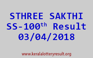 STHREE SAKTHI Lottery SS 100 Results 03-04-2018