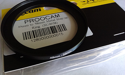 Proocam Step-up Ring 49mm To 58mm