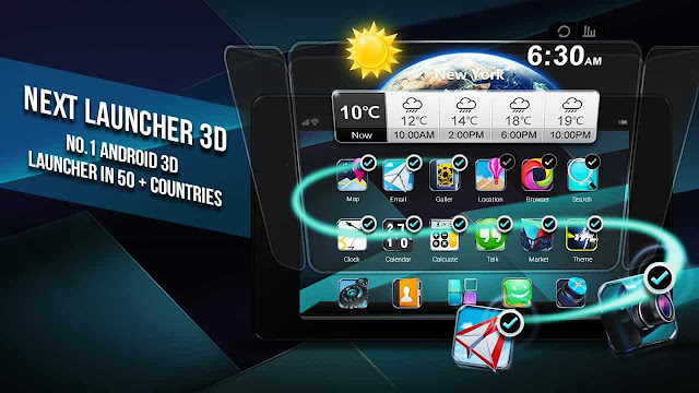 next launcher 3d shell full apk
