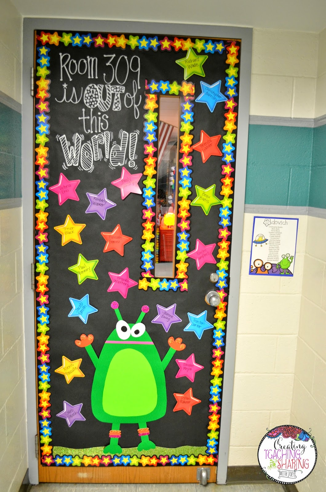 Classroom Window Decor ~ Blasting off into my classroom reveal create