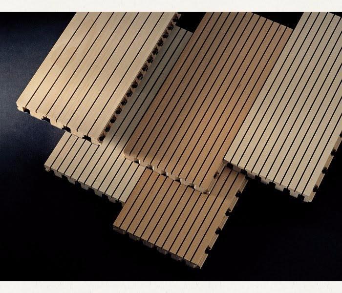 gỗ tiêu âm soi rãnh