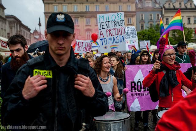 Marsz Rownosci, LBGT, Krakow, 2016