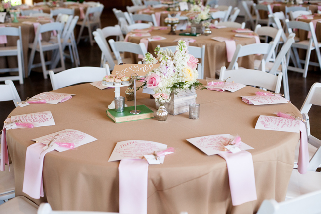 tables at quince celebration, hand lettered menus, place setting ideas