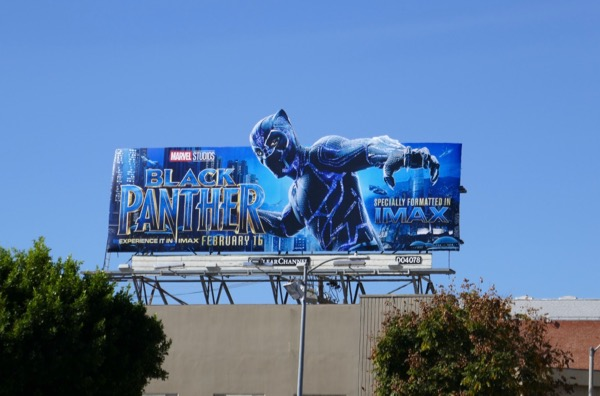 Black Panther imax billboard