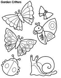 Printable Garden Critters Coloring Pages